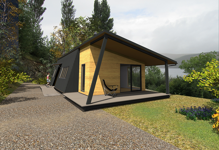 a bespoke architectural design for an ecological timber house built near Ullapool, Scotland