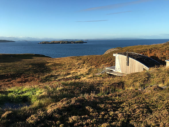 a luxury custom-designed architectural pod cabin in the Scottish Highlands