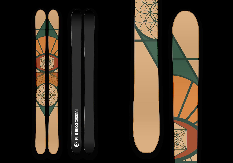 Sacred Geometry Skis