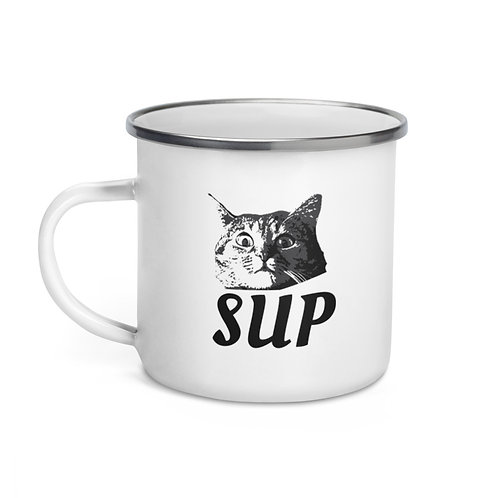 SUP Cat - Enamel Mug