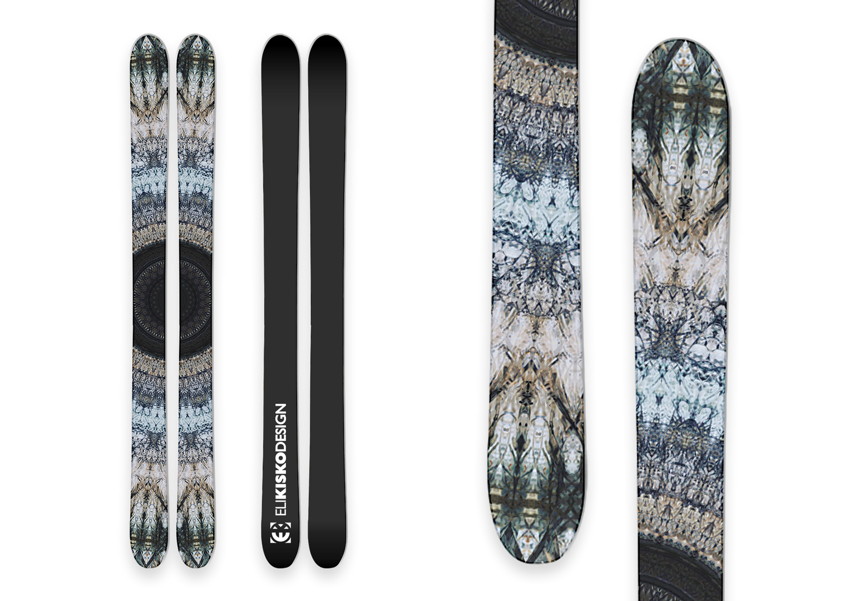 Blue Flower Skis