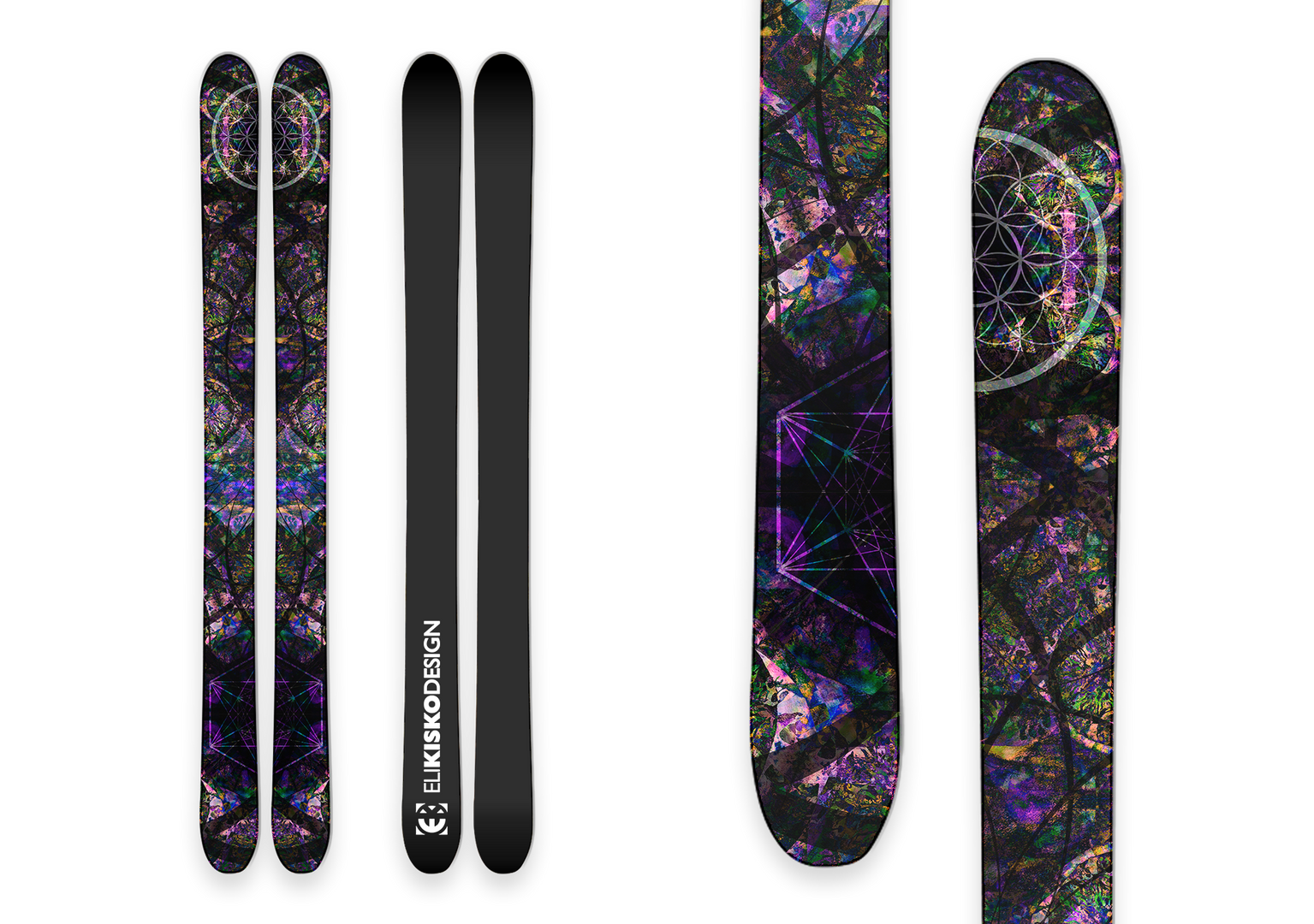 Trippy Forest Skis