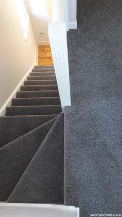 Shepherd Heathers, Pattern 'Stone Age' Stairs - Burgess Hill - Owens & Sons Carpets-1