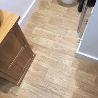 en suite wood look vinyl flooring fitted in twineham haywards heath