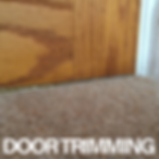 bottom of a wooden door planed by our carpet fitters, as to allow adaquet hight for the new floor covering