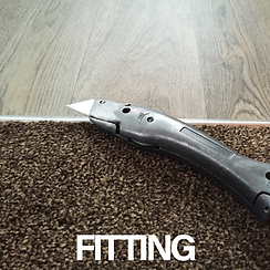 Carpet fitting knife button image, created by Owens & Sons Carpets