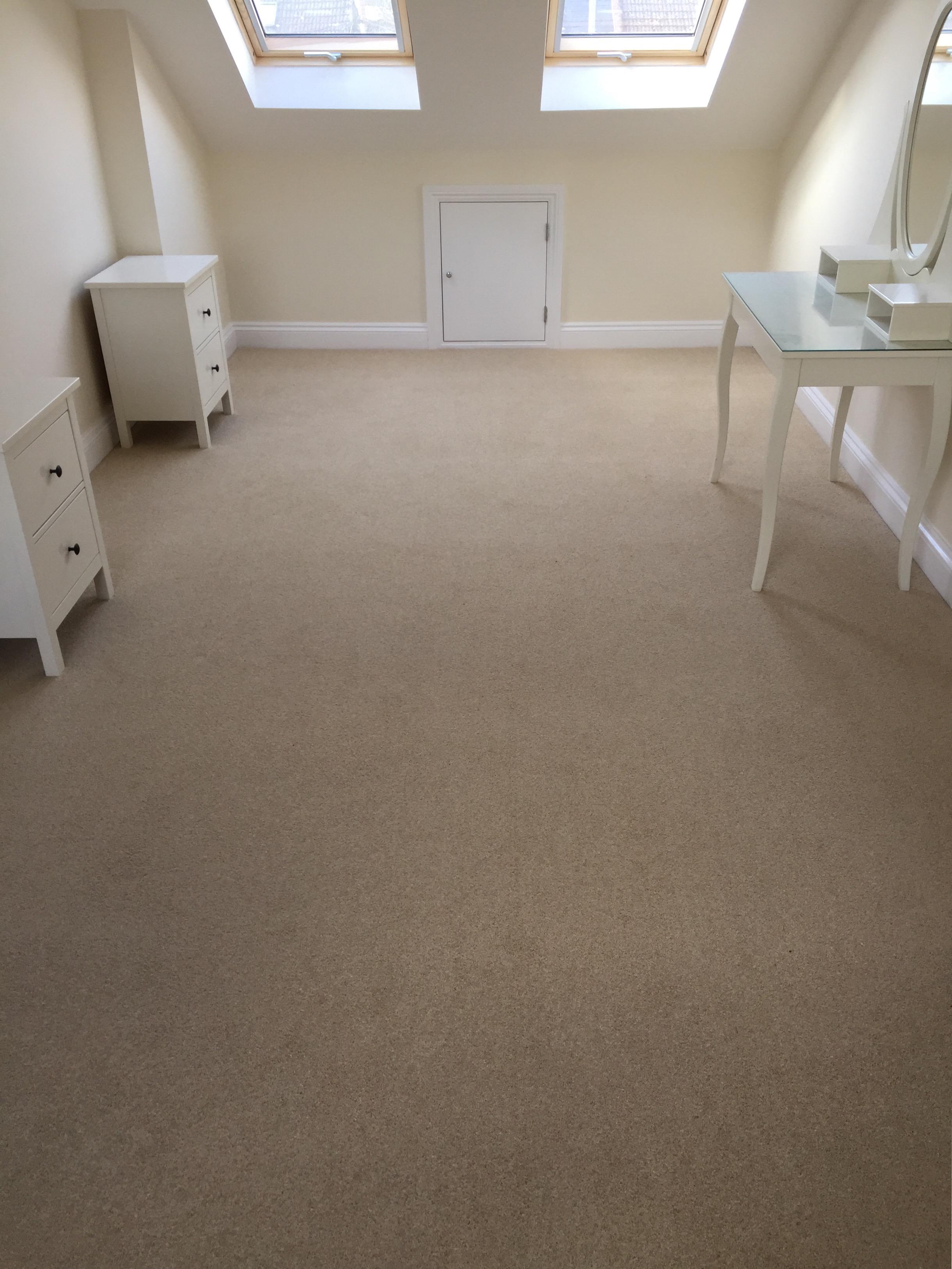 Bedroom Carpets Sussex, Beige bedroom carpet