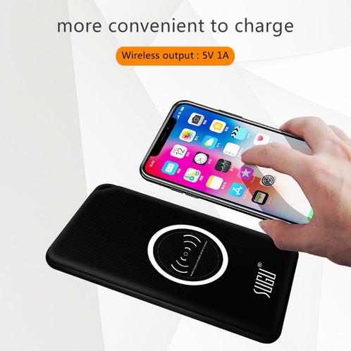 Qi Wireless Charging Portable 8000mAh Dual USB Port Power Bank for iphoneX