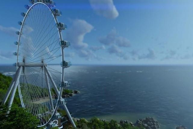 Panorâmica do Centro e da Baía a 88 m de altura