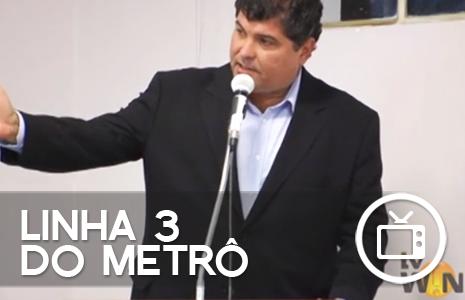 Sávio Neves na TV Win – Apoio à Linha 3 do Metrô