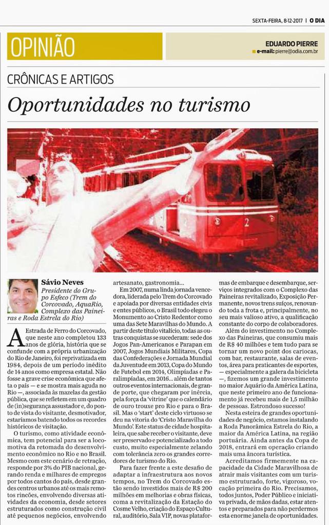 Oportunidades no Turismo