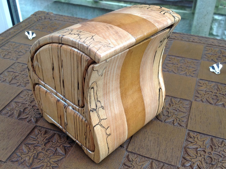 Unusual Spalted Beech Box