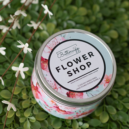 Flower Shop Tin Candle