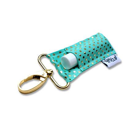 Aqua Gold Dots LippyClip® Lip Balm Holder