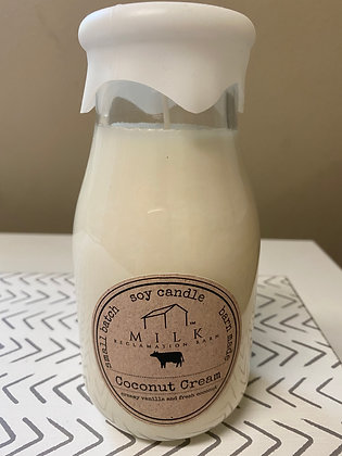 Coconut Cream Milk Bottle Soy Candle