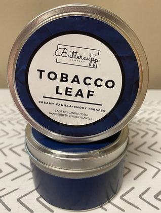Tobacco Leaf Tin Candle