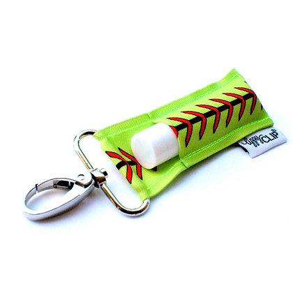 Softball Stitching LippyClip® Lip Balm Holder