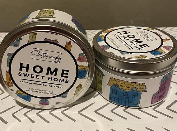 Home Sweet Home Tin Candle