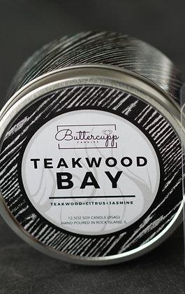 Teakwood Bay Tin Candle