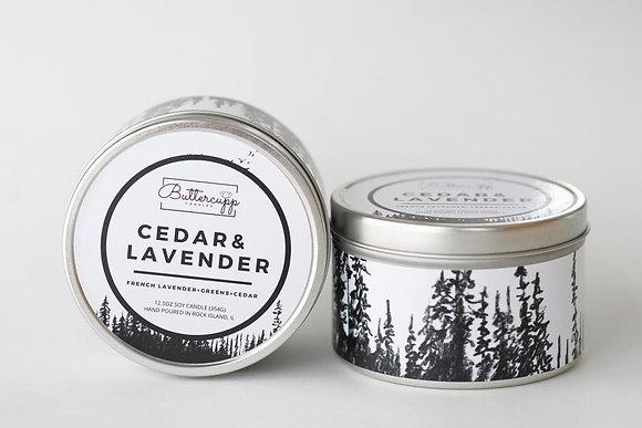 Cedar & Lavender Tin Candle