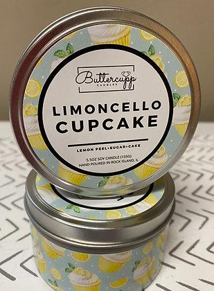 Limoncello Cupcake Tin Candle