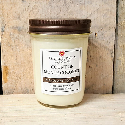 Count of Monte Coconut Soy Candle