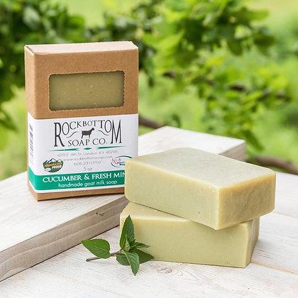 Cucumber & Fresh Mint Goat Milk Soap