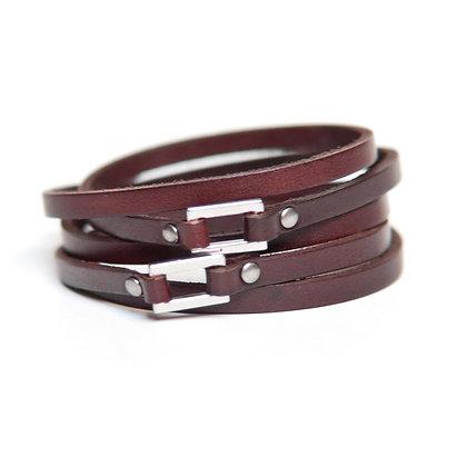 Dark Brown Belt Buckle Wrap