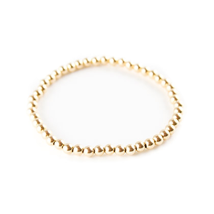 The Little Gold Stretch Bracelet (Small Bead)