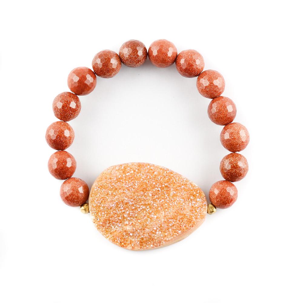 druzy, busywrist, bracelets, sandstone, agate, gold, jewelry