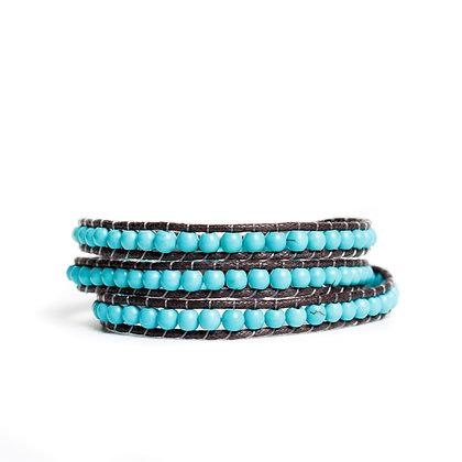 Small Turquoise 3X Wrap