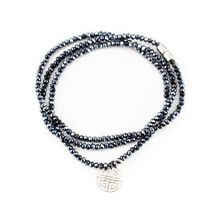 Navy Crystal Shou Wrap