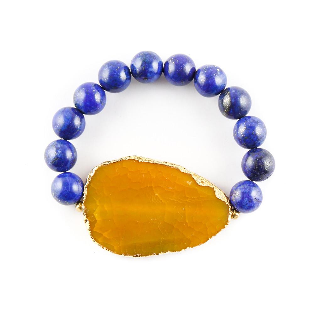 druzy, busywrist, bracelets, lapis, agate, gold, jewelry