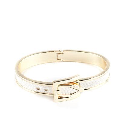 White & Gold Belt Bangle