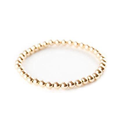 The Little Gold Stretch Bracelet (Medium Bead)