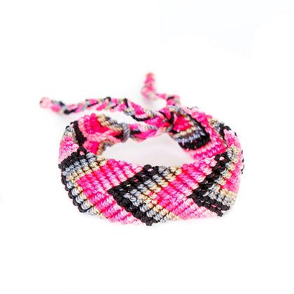 Black + Pink Bestie Bracelet