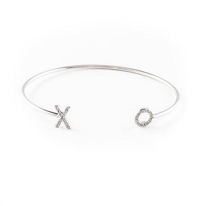 Silver XO Bangle