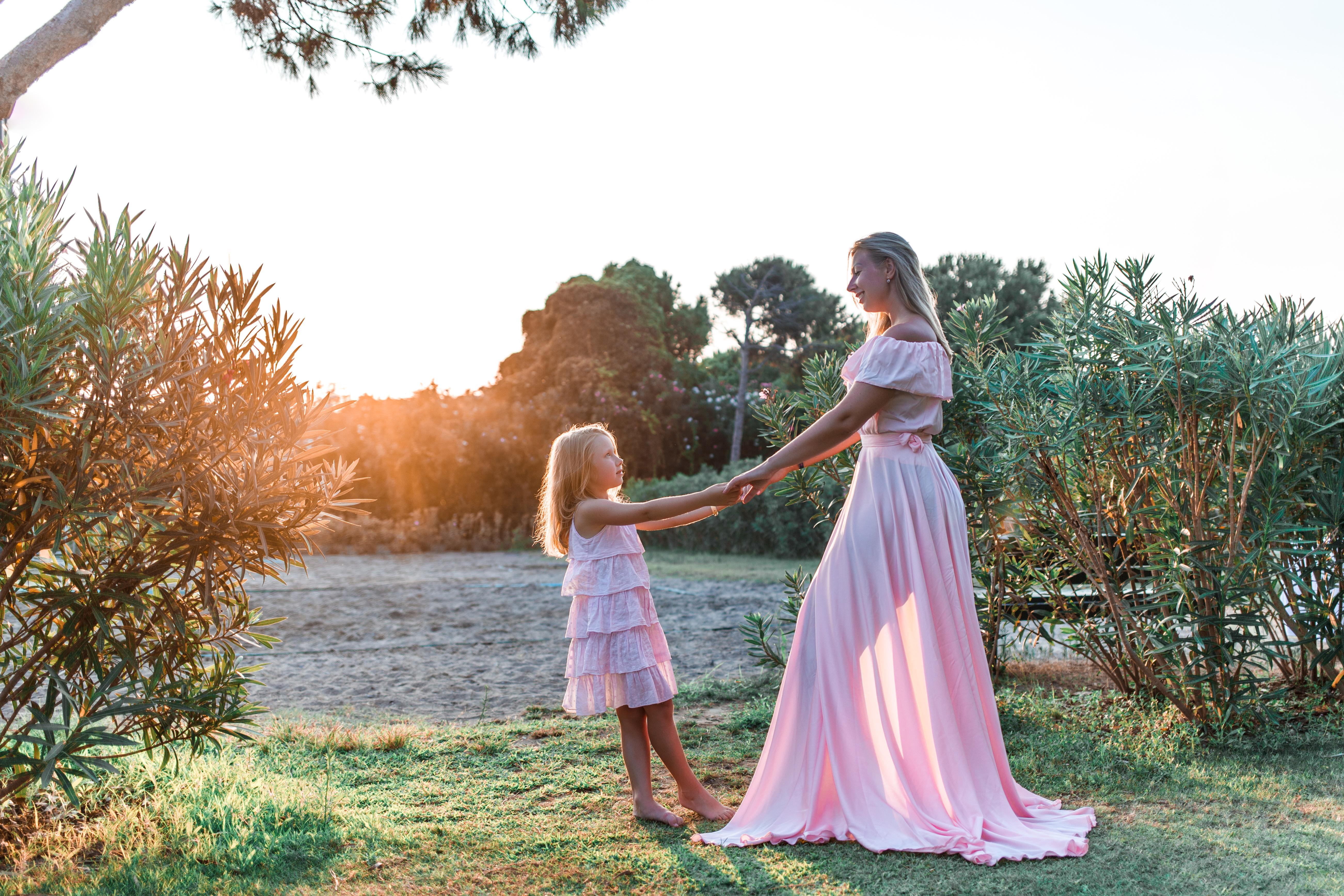 136.  Нежное розовое платье