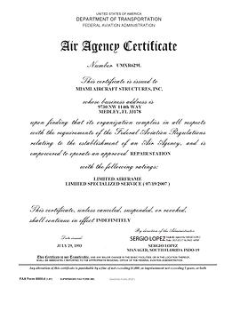 UMXR629L Air Agency Certificate.png