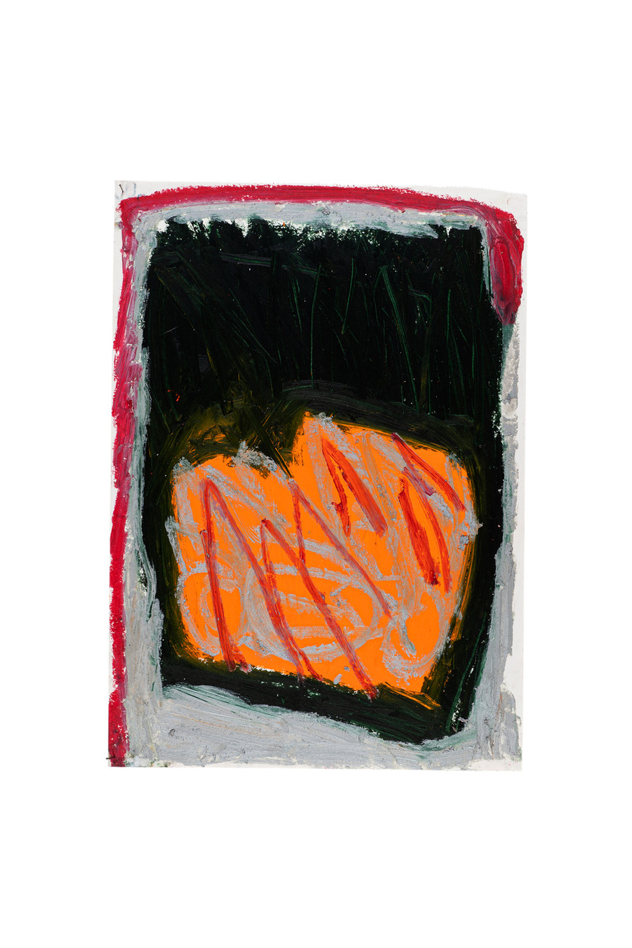 Vicente Saraiva, sem título, 2020, Barra de Oleo sob papel, 60 x 42cm