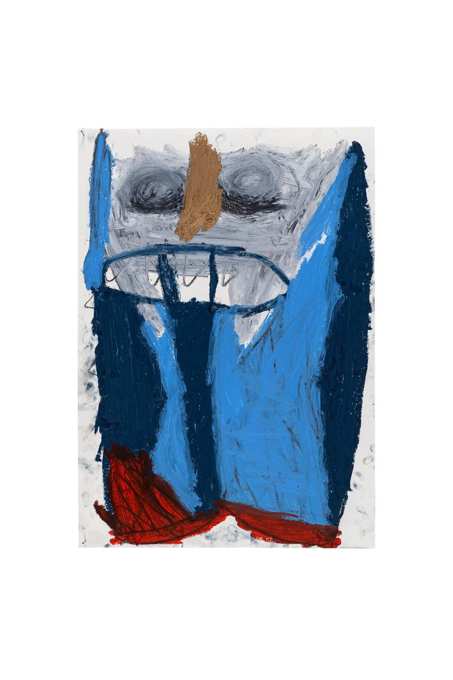 Vicente Saraiva, Controladora da Àgua, 2020, Barra de Oleo e grafite sob papel, 60 x 42cm