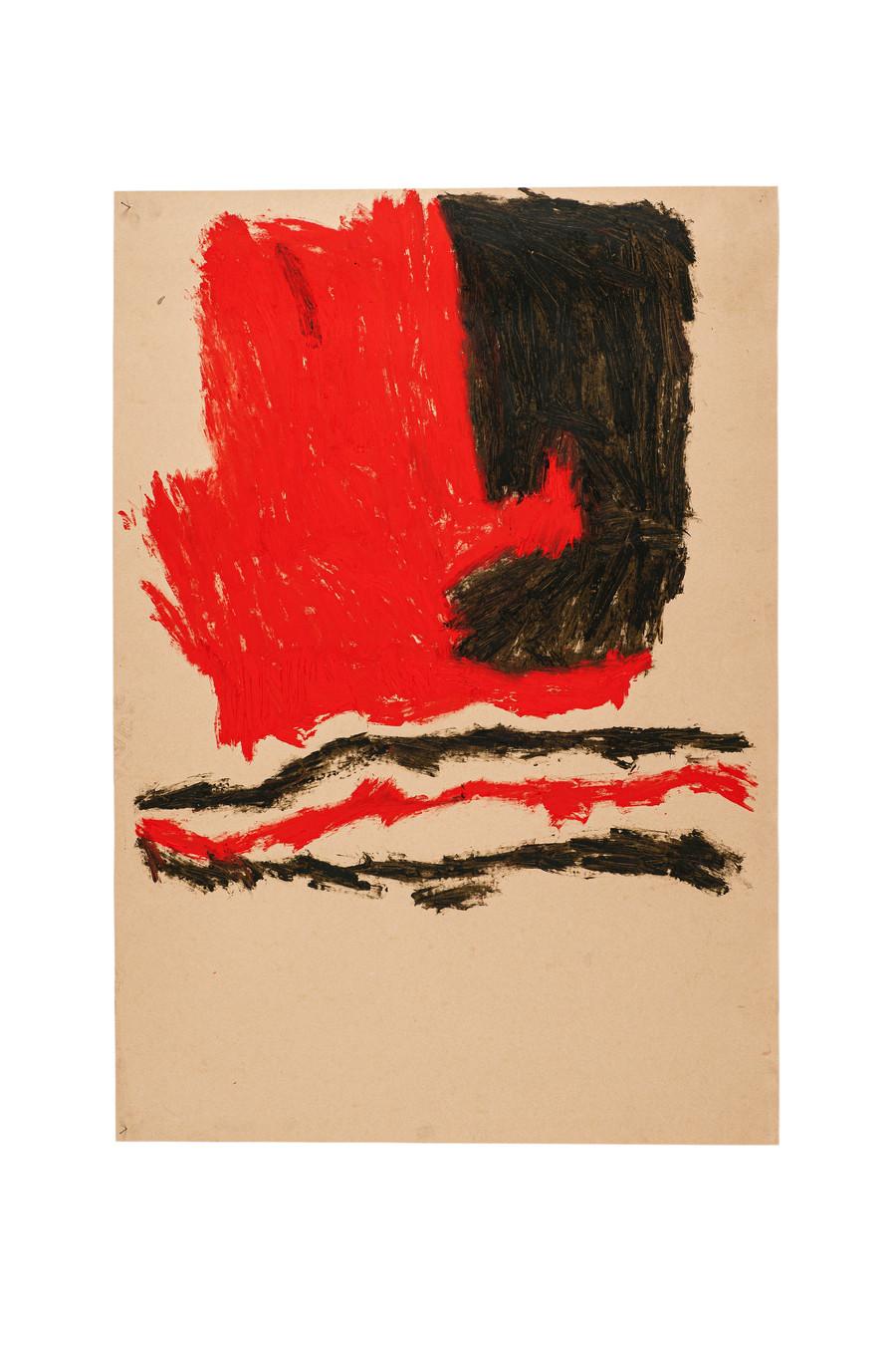 Vicente Saraiva, Sem Título, 2020, Barra de óleo sob papel, 140x101cm
