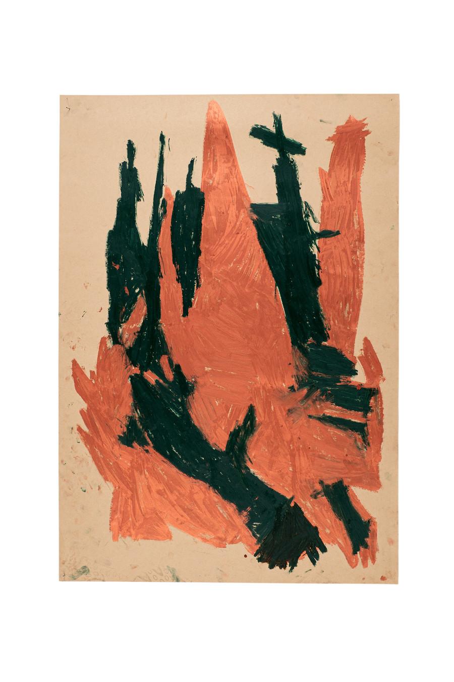Vicente Saraiva, Castelo, 2020, Barra de óleo sob papel, 140x101cm
