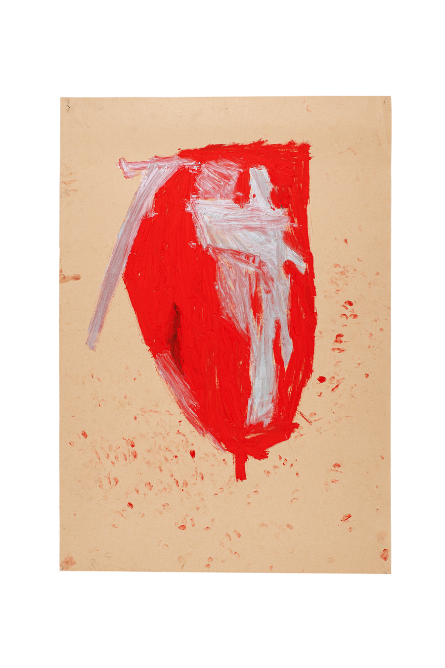 Vicente Saraiva, Coração, 2020, Barra de óleo sob papel, 140x101cm
