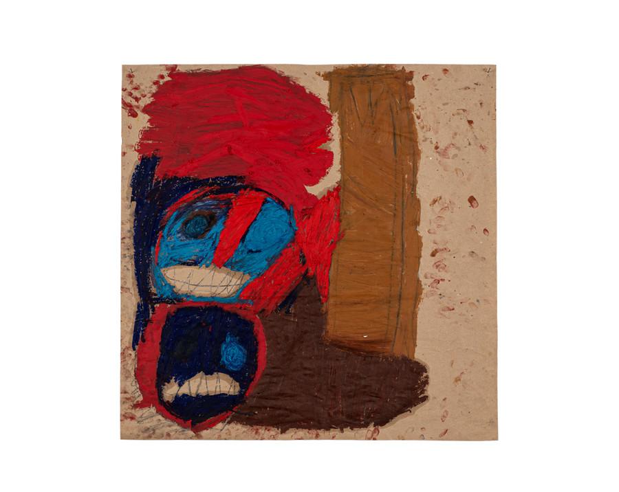 Vicente Saraiva, Sem Título, 2020, Barra de óleo e grafite sob papel, 70x70cm