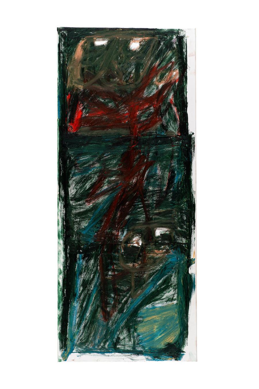 Vicente Saraiva, Sem Título, 2020, Barra de Oleo sob Tela, 120 x 50cm