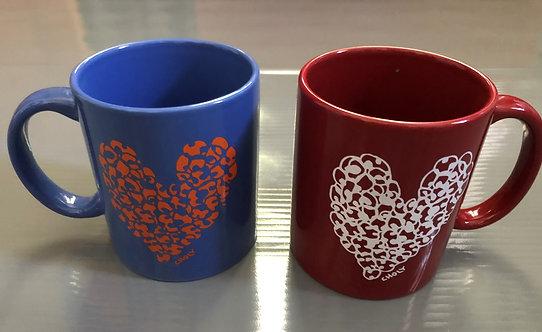 Popcorn Art Heart Mug