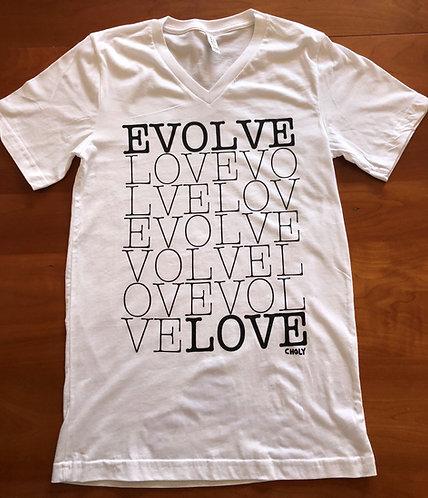 EVOLVE LOVE Unisex V-Neck T-Shirt