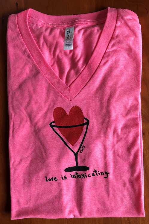 Love Is Intoxicating  Unisex V-Neck T-Shirt