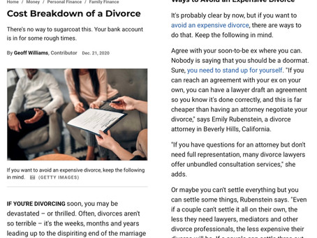 What Does a Los Angeles Divorce Really Cost Once You've Factored in All the Moving Parts?